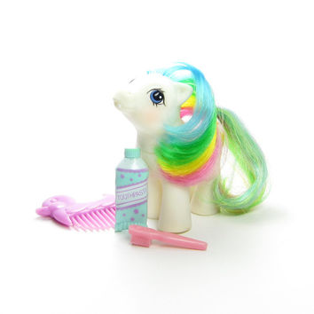 Baby Quackers First Tooth My Little Pony Vintage G1 Toy with Toothpaste, Toothbrush, Duck Comb