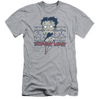 BETTY BOOP/ZOMBIE PINUP-S/S ADULT 30/1-ATHLETIC HEATHER