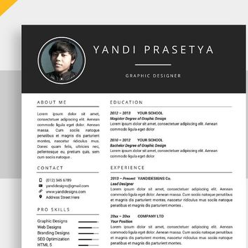 Professional Resume Template, CV Template for MS Word, Creative Resume, Modern Resume Design, Resume Instant Download Brilliance Resume SALE
