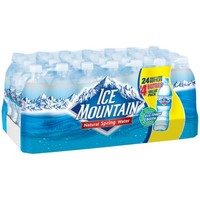 ICE MOUNTAIN Brand 100% Natural Spring Water, 16.9-ounce bottles (Pack of 28) - Walmart.com