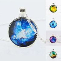 Milky Way Cabochon Necklace
