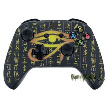 Custom Eye of Providence Origins  Soft Touch Top Housing Shell for Xbox One X & One S Controller #SXOFT28X