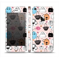 The Subtle Pink And Purses Skin Set for the Apple iPhone 5