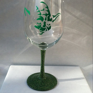 Yoda inspired by Star Wars wine glass