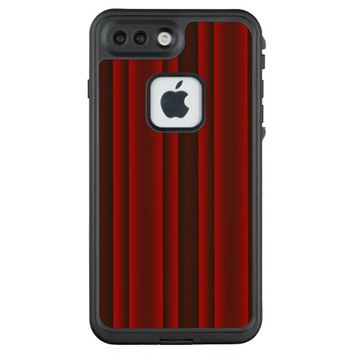 Red and Black Stripes LifeProof FRĒ iPhone 7 Plus Case