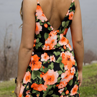 Flowers For Days Orange Floral Sundress