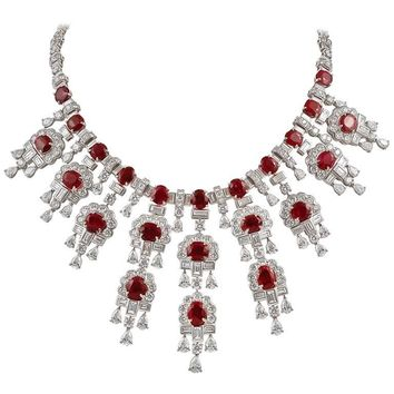 Harry Winston Diamond, Burma Ruby Necklace