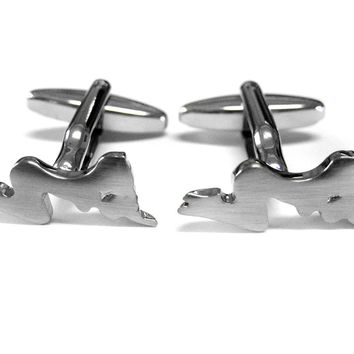 Woman Silhouette Cufflinks