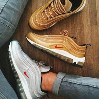 NIKE AIR MAX 97 Trending Unisex Leisure Running Sport Shoes Lovers Sneakers I