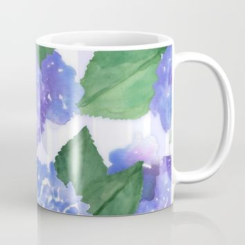 Hydrangeas and Stripes Mug by Noonday Design