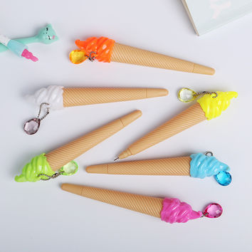 1pc Cute Small Fresh Candy Color Ice Cream Gel Pen Creative Gift School Supplies Random Color