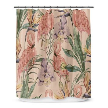 Shower Curtain Flamingo