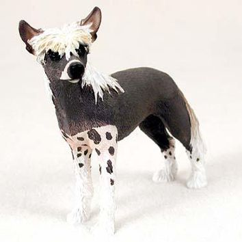 CHINESE CRESTED DOG STANDARD FIGURINE