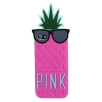 Suppion Hot Sale & Fruit Design Victoria Secret Lady Pineapple Skin Silicone Case Cover for Iphone 5 5g (hot pink)