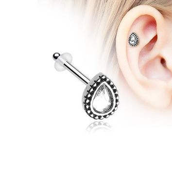 Chakra Sparkle Piercing Stud with O-Rings
