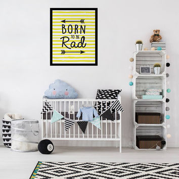 Born To Be Road Print, Nursery Poster, Arrows Print, Kids Room Recor, Nursery Wall Art, Typography Poster, Kids Print, Nursery Illustration,
