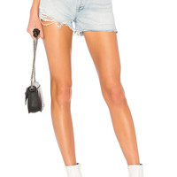AGOLDE Jaden High Rise Shorts in Broken