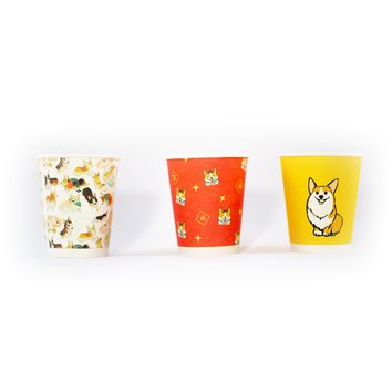 Corgi Design Party Paper Cup (50 pieces per set)