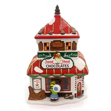 Department 56 House North Pole Christmas Sweets Village Lighted Building