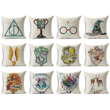 Harry Potter Pillow Covers - Hogwarts, Houses, Symbols