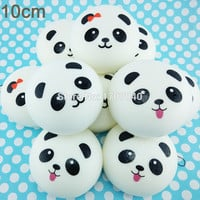 10cm Jumbo Panda Squishy Collectibles Kawaii Buns Bread Pendant Food Toy