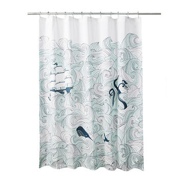 Odyssey Shower Curtain | Nautical Bath Decor