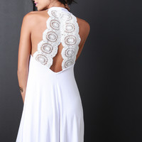 Crochet Back Tank Dress