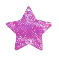 "Iris Lehnhardt ""Twigs Silhouette Pink"" Blush Ceramic Star Ornament"