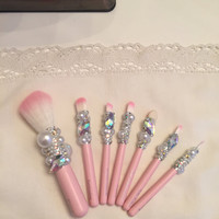 Crystal Makeup Brushes by DazzleCase on Etsy