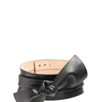 Wide bow-embellished leather belt | Alexander McQueen | MATCHESFASHION.COM US
