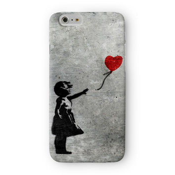 Banksy Girl with Heart Balloon Full Wrap 3D Printed Case  for Apple iPhone 6 by Banksy