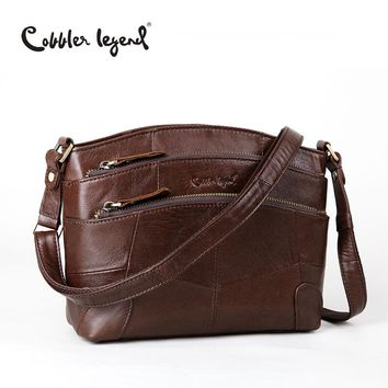 Cobbler Legend Multi Pockets Vintage Genuine Leather Bag Female Small Women Handbags Bags For Women 2017 Shoulder Crossbody Bag