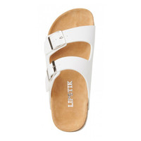 Lipstik Shoes - Toffee Sandals - White