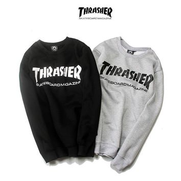 spbest Thrasher Skateboard Magazine Sweater