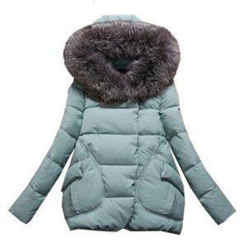 Autumn Winter Jacket Women 2015 Parkas for women Thick Warm Wadded Jackets and coats With a Hood Large Faux Fur Collar Coat H182
