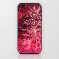 flowery firework iPhone & iPod Skin by Marianna Tankelevich