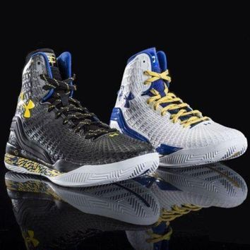 CREYONDB Under Armour Clutchfit Drive Curry PE Home Away Yellow dub nation batman black