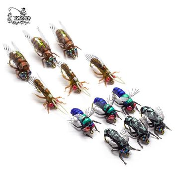 Hot Dry Fly Fishing Flies Set Fly Tying Kit Lure for Rainbow Trout Flies 8# 10# 12#Patterns Assortment Fishing flyfishing