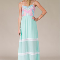 Mint to Be Maxi Dress