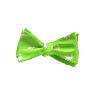 Rabbit Bow Tie - Printed Silk