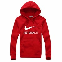 "Men Sweatshirt Pullover ""Just Break It"" Sports Hoodies [8540566919]"