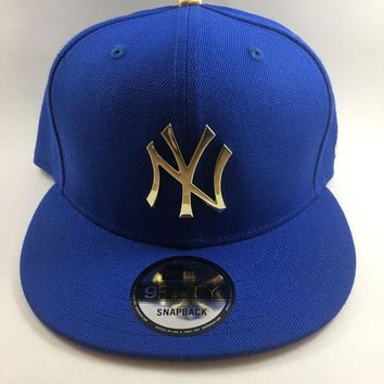 VONL8T Brand New - Blue & Gold plated New York Yankees Snapback - New Era