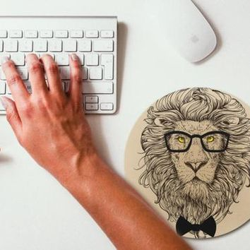 Lion Hipster Animal Mouse Pad Mouse Mat Design