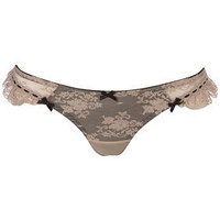 Taupe Lace Thong - Lingerie & Sleepwear - Apparel - Topshop USA