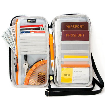 Travel Wallet & Passports Holder with RFID Blocking by AGILISK Offer Family O...
