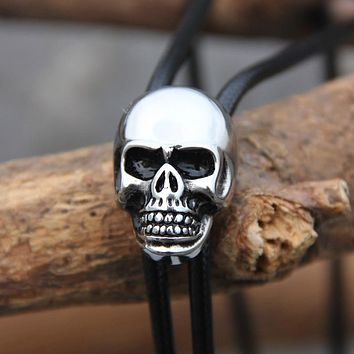 Skull Stainless Steel Bolo Tie Fashion Accessory