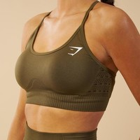 Gymshark Energy Seamless Sports Bra - Khaki