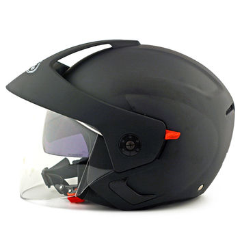 Motorcycle Motor Bike Scooter Safety Helmet 205   dull black