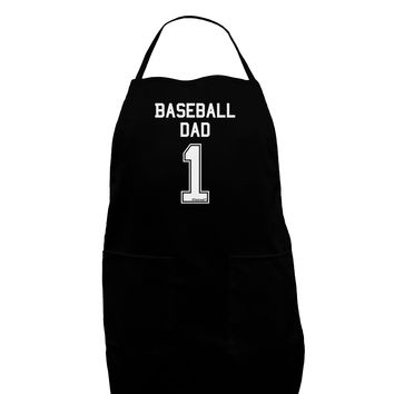 Baseball Dad Jersey Dark Adult Apron by TooLoud