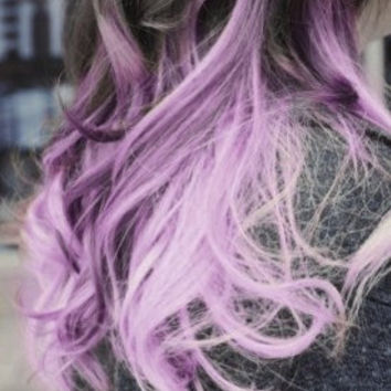 Black to Lilac Ombre Human Hair Extensions